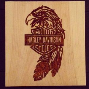 harley-wood-burning