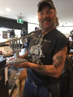 George showing off the Bike Games Trophy