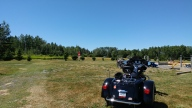 Flat field for driving the bikes into