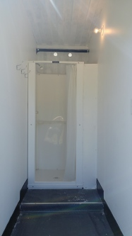 Private clean showers on site